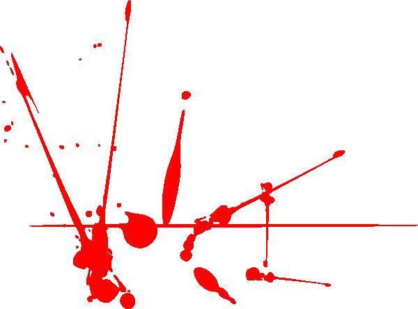 Splatter voice clip art. Blood clipart vector