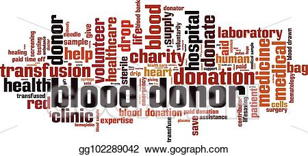 Blood clipart word. Vector art donor cloud