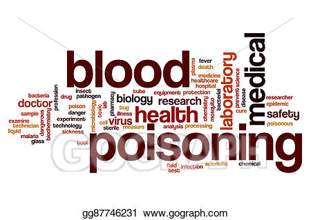 Stock illustration poisoning cloud. Blood clipart word