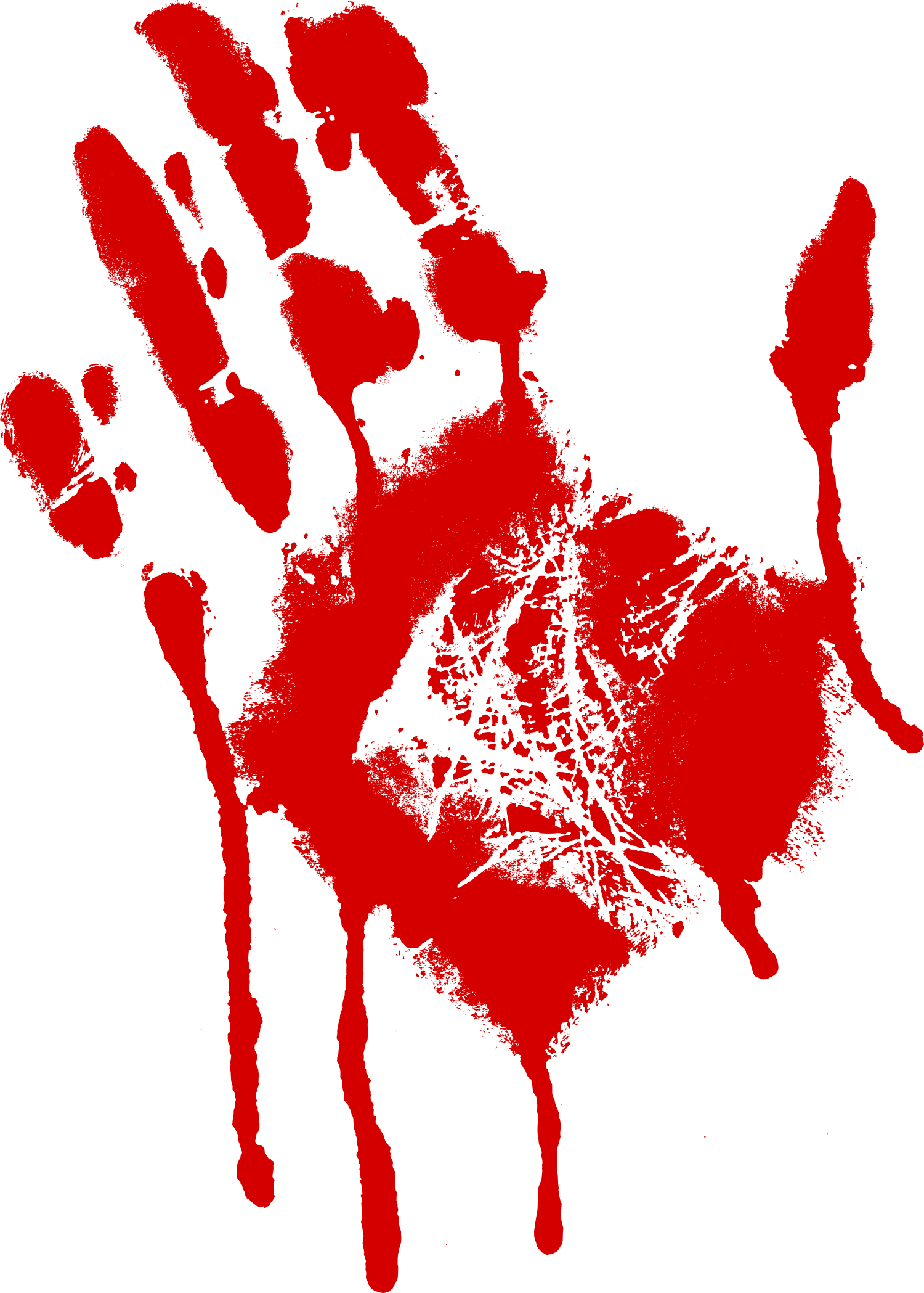 red bloody handprint. Blood hand png