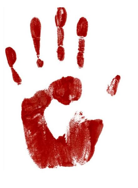 Blood hand png. File print the sabbat