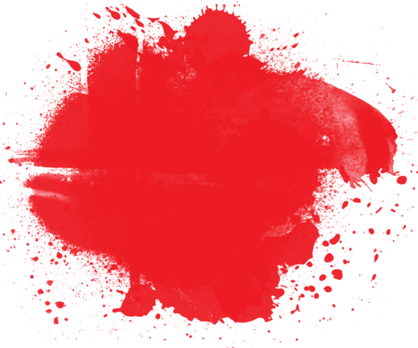 Red heart horror puddle. Blood pool png