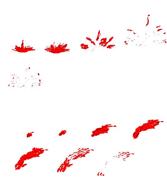Blood spray png. Bloodsplatter and bloodsplash animation