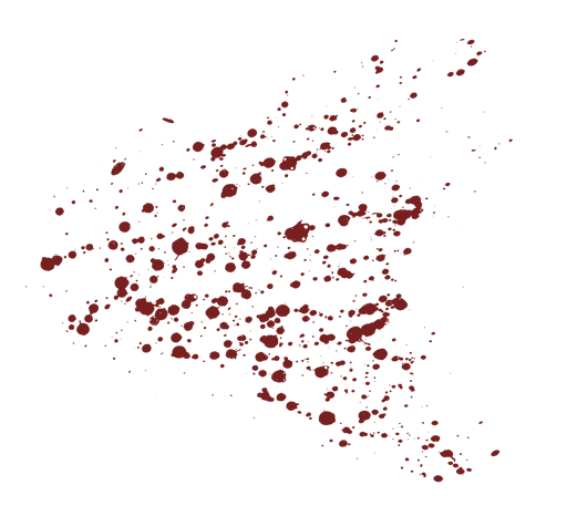 Index of mapping overlays. Blood spray png