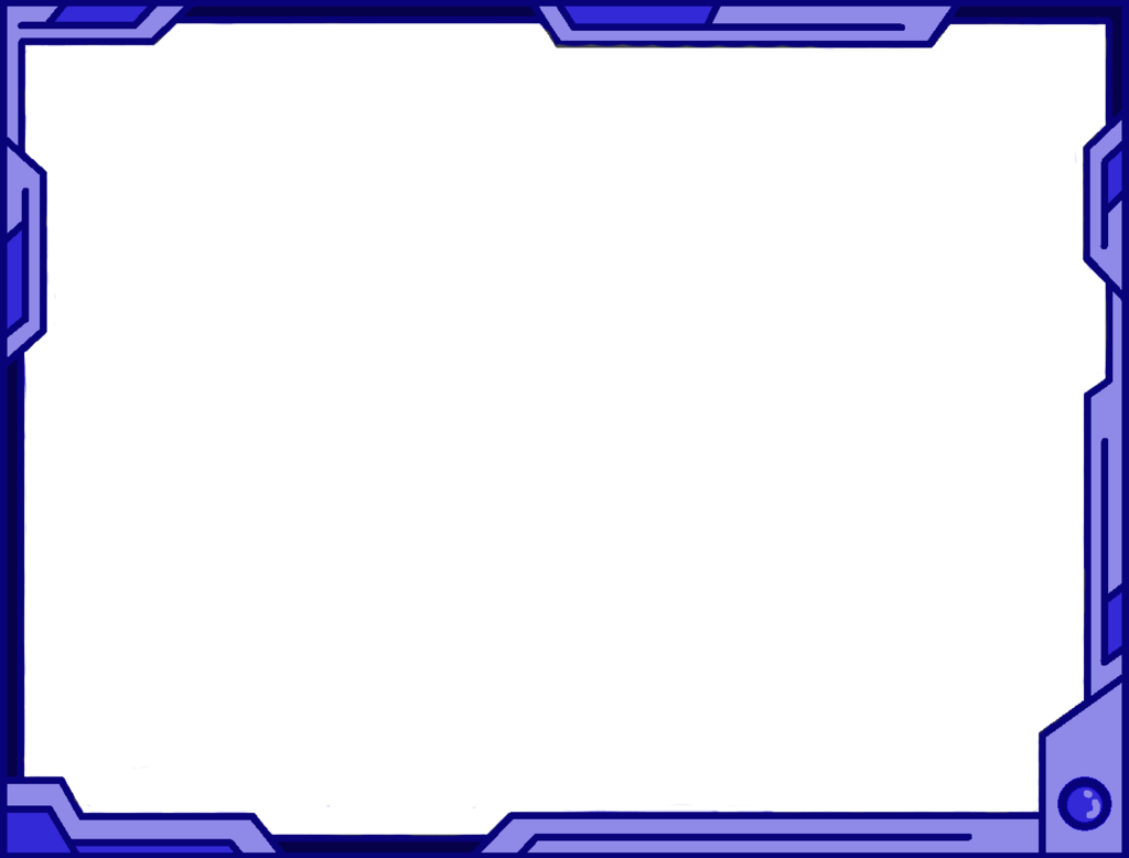 Blue border png. Simple futuristic design by