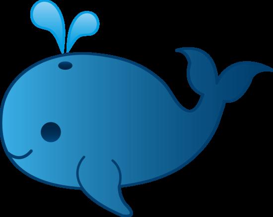 Little whale clip art. Blue clipart