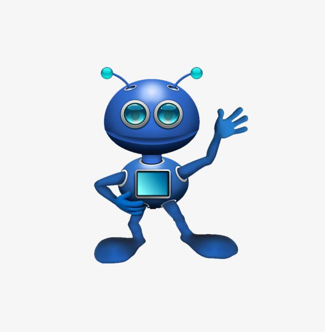 Blue clipart alien. Cartoon robot png image