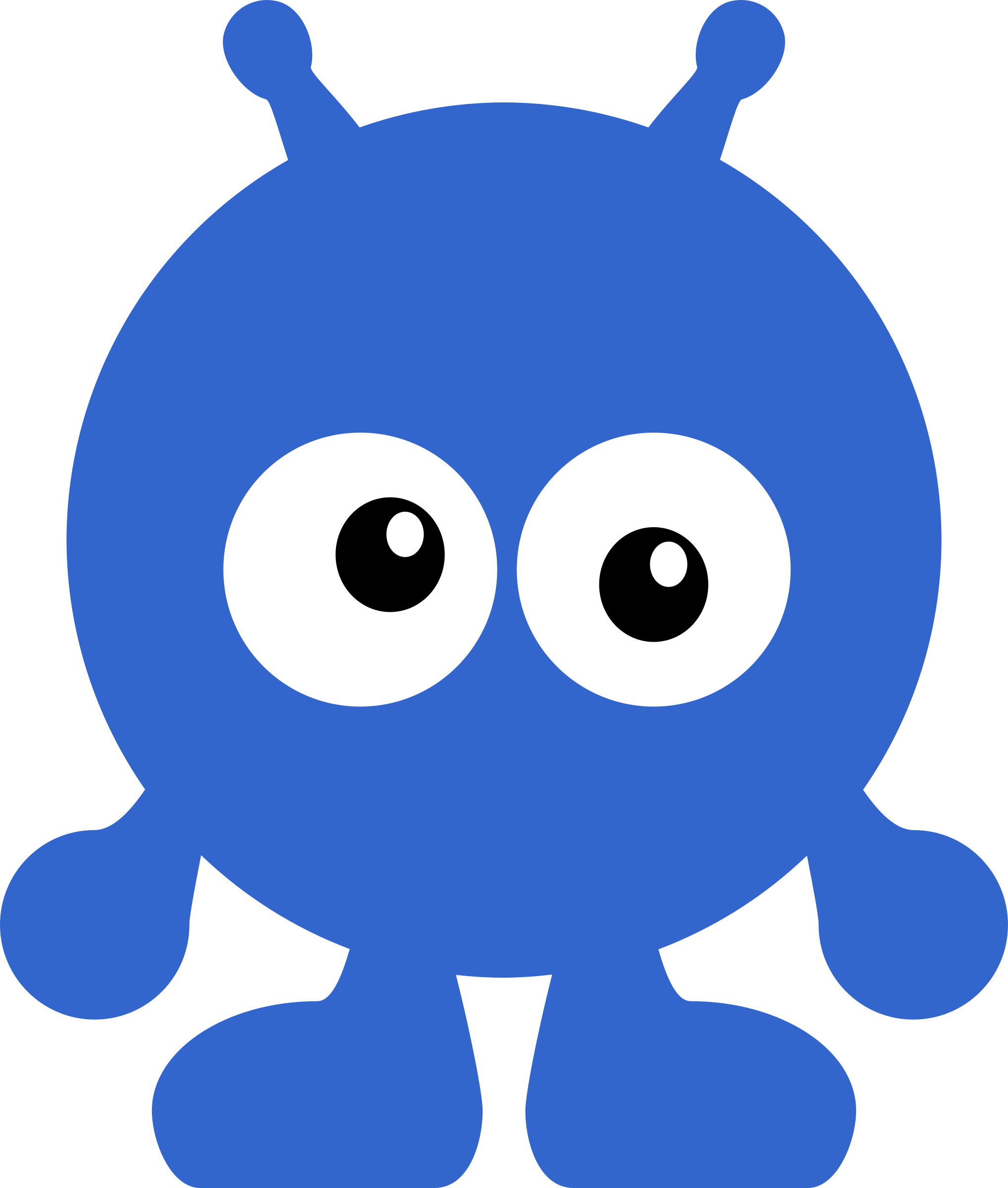 Character big image png. Blue clipart alien