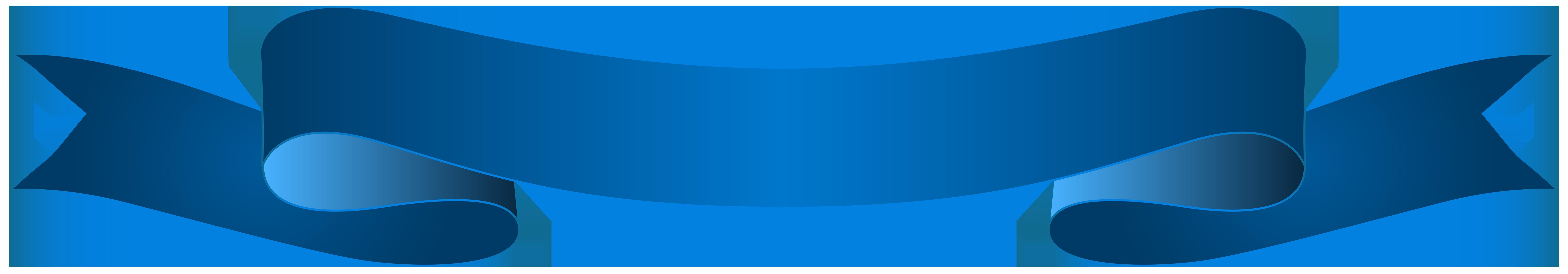 Blue clipart banner. Transparent clip art image