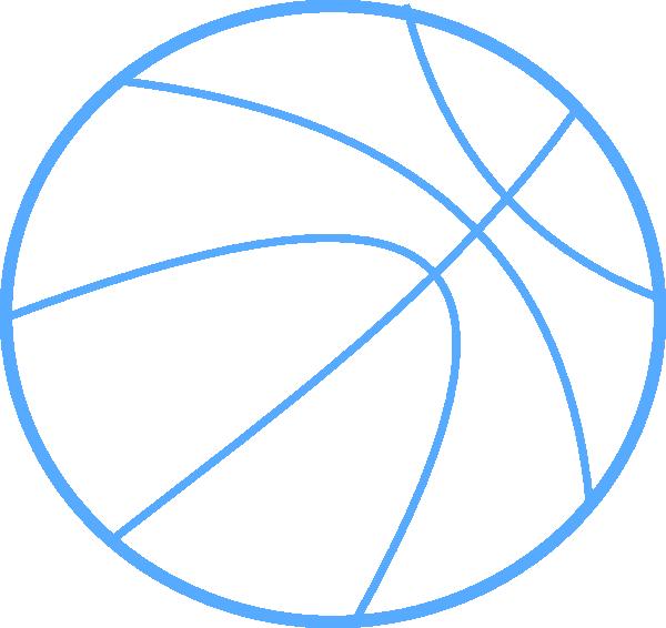 Blue clipart basketball. Outline clip art at
