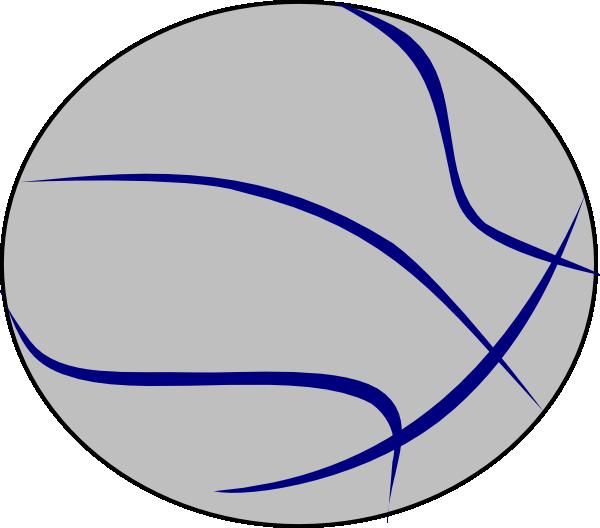 Clipart basketball grey. Blue clip art at