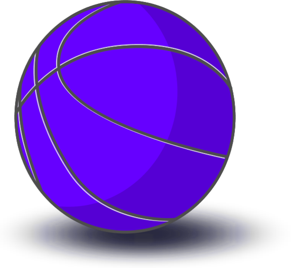 collection of purple. Blue clipart basketball