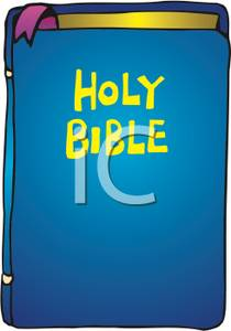 Blue clipart bible. The holy royalty free