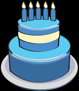 Blue clipart birthday cake. Clipartix