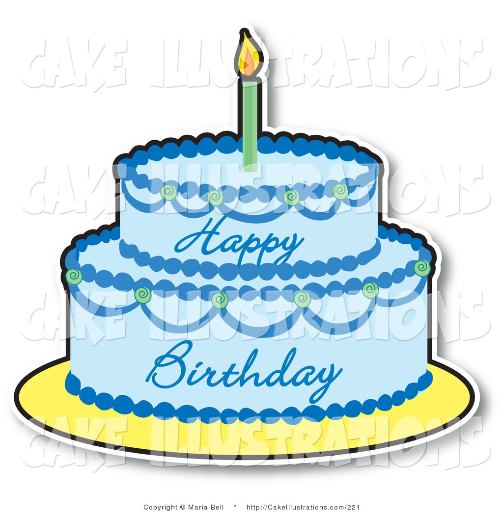 collection of high. Blue clipart birthday cake