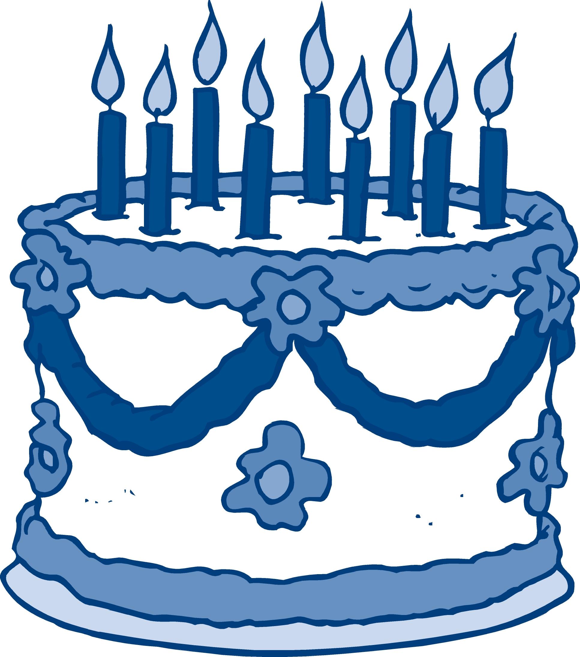 Clip art animehana com. Blue clipart birthday cake