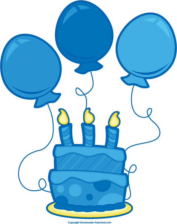 Panda free images balloons. Blue clipart birthday cake