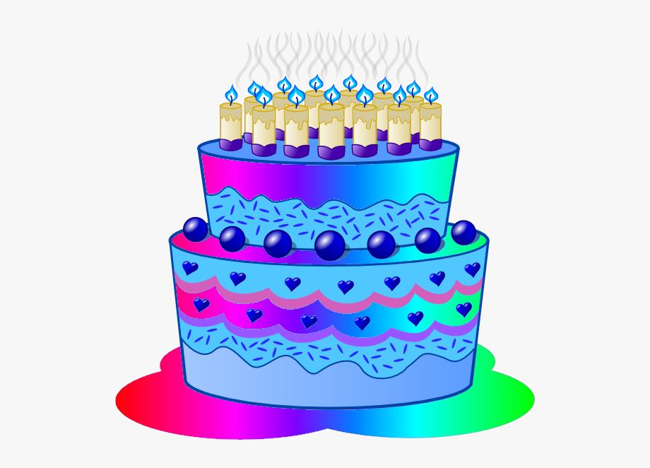 Clip art . Blue clipart birthday cake