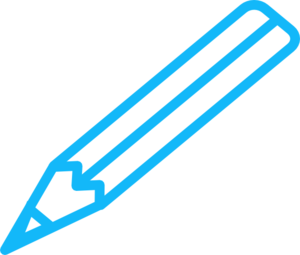 Pencil clip art at. Blue clipart black and white