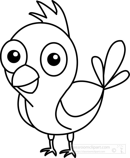 Cute black and white. Animals clipart bird