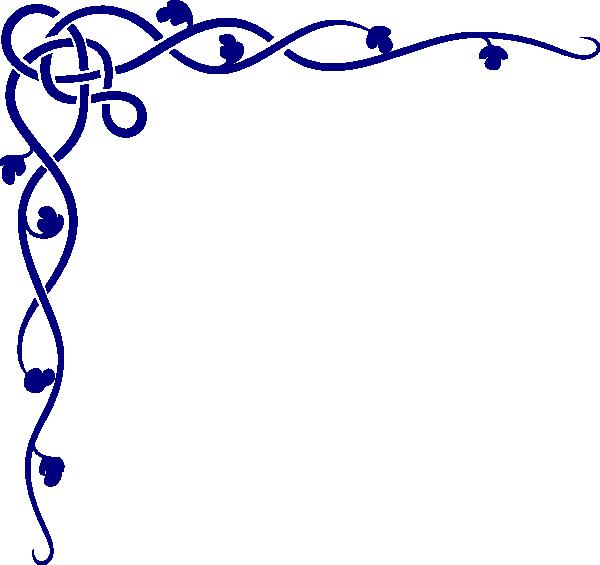 Pie clipart border. Blue corners