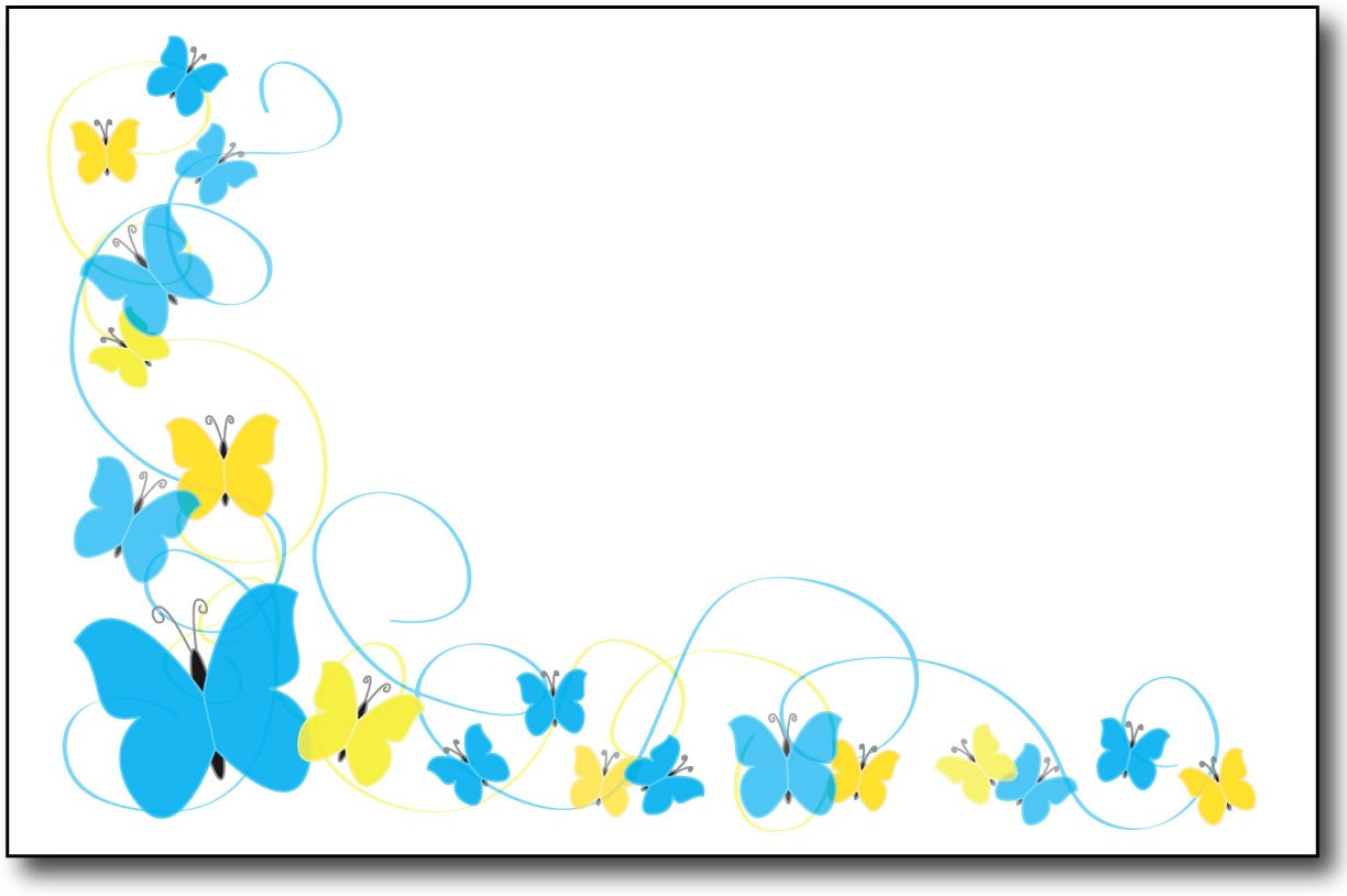 Blue clipart borderline.  collection of butterfly
