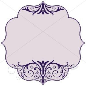 Wedding borders for stationery. Blue clipart borderline