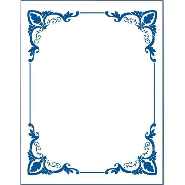 Flower for word document. Blue clipart borders