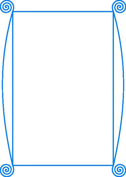 Blue clipart borders. Border frame clip art