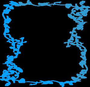 Blue clipart borders. Malibu floral border clip