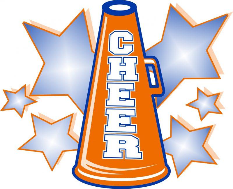 Blue clipart cheerleader. Orange cheer free collection