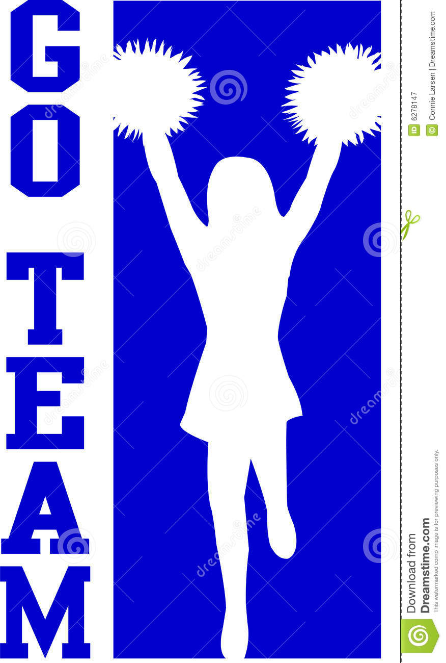 Cheer clipart blue. Go team
