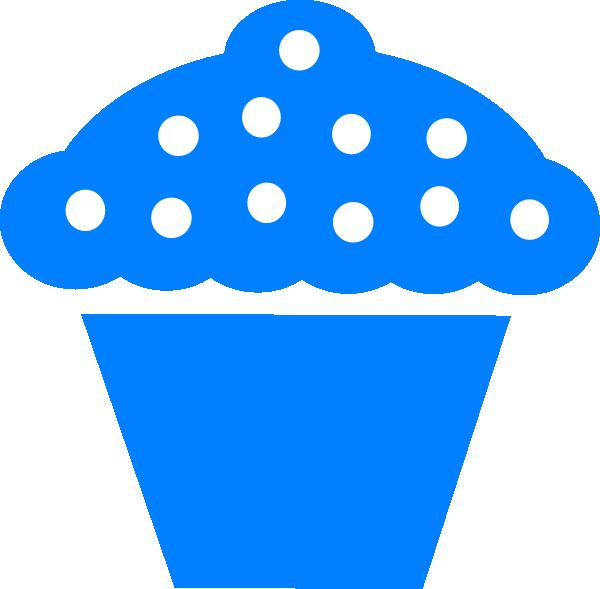 Blue clipart cupcake. Polka dot clip art