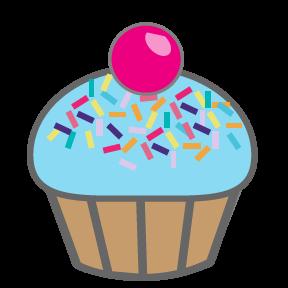 Cupcakes panda free images. Blue clipart cupcake