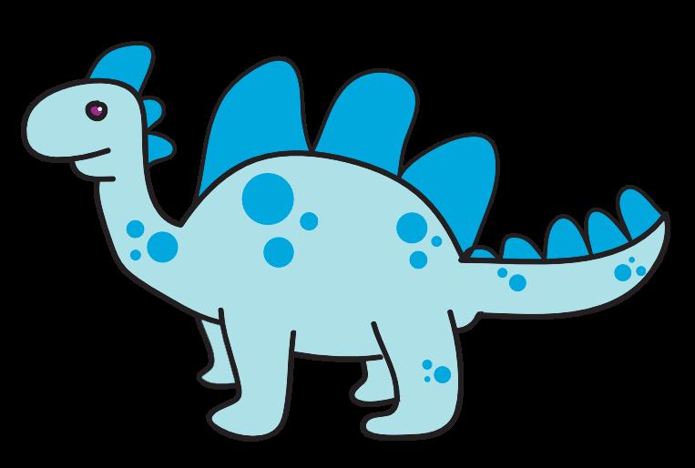 Blue dinosaur . Dinosaurs clipart vector