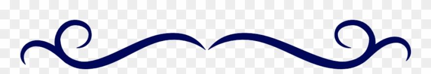 Image single line border. Blue clipart divider