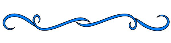 Line dividers . Blue clipart divider