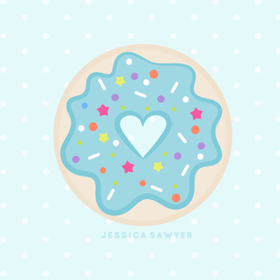 Free for national day. Blue clipart donut