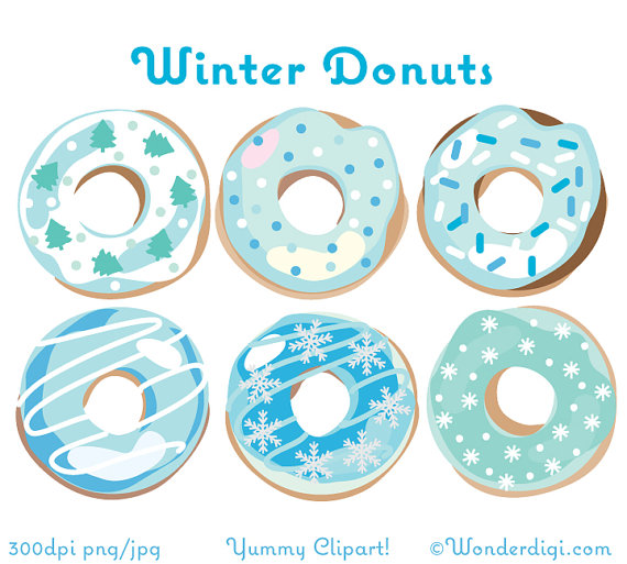 Donuts clip art christmas. Blue clipart donut