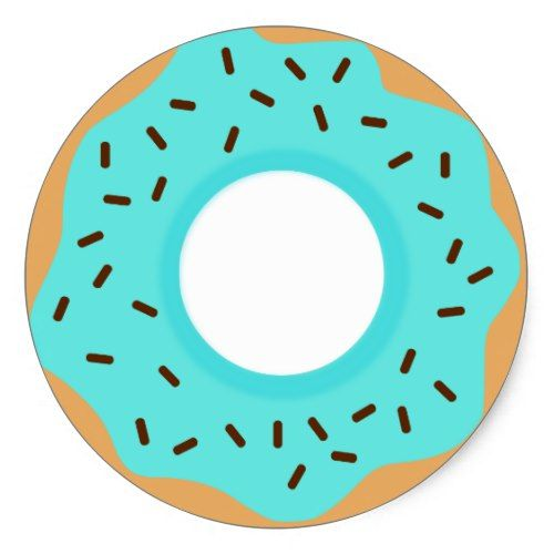 Chocolate sprinkles classic round. Blue clipart donut
