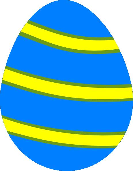 Blue clipart easter egg. Clip art at clker