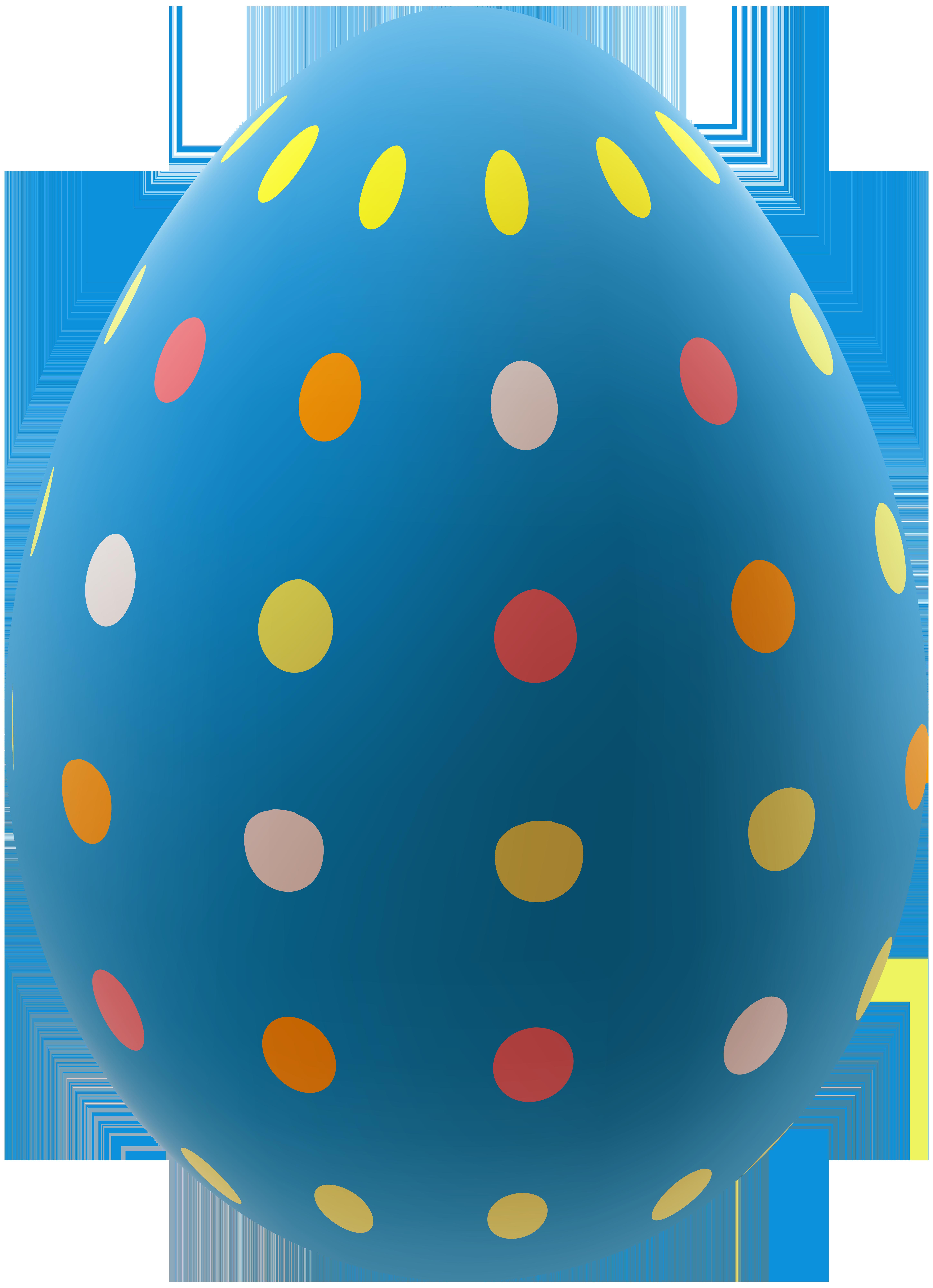 Png clip art image. Blue clipart easter egg