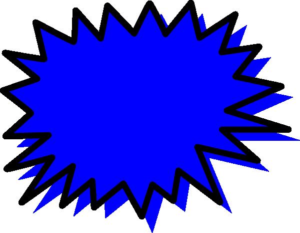 Blue explosion blank clip. Burst clipart pow