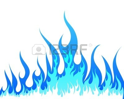 Clipart flames inferno. Blue flame fire panda