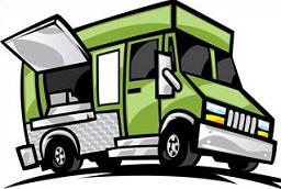 Blue clipart food truck. Free