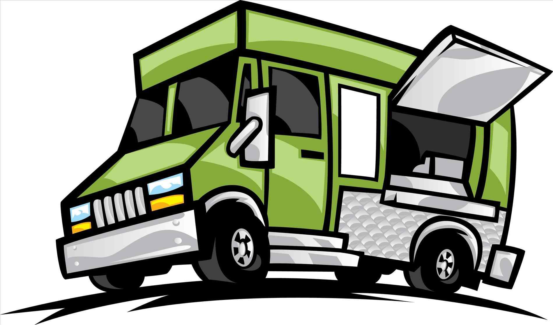 The images collection of. Blue clipart food truck