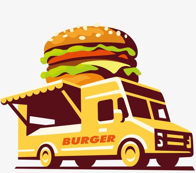 Car cartoon png image. Blue clipart food truck