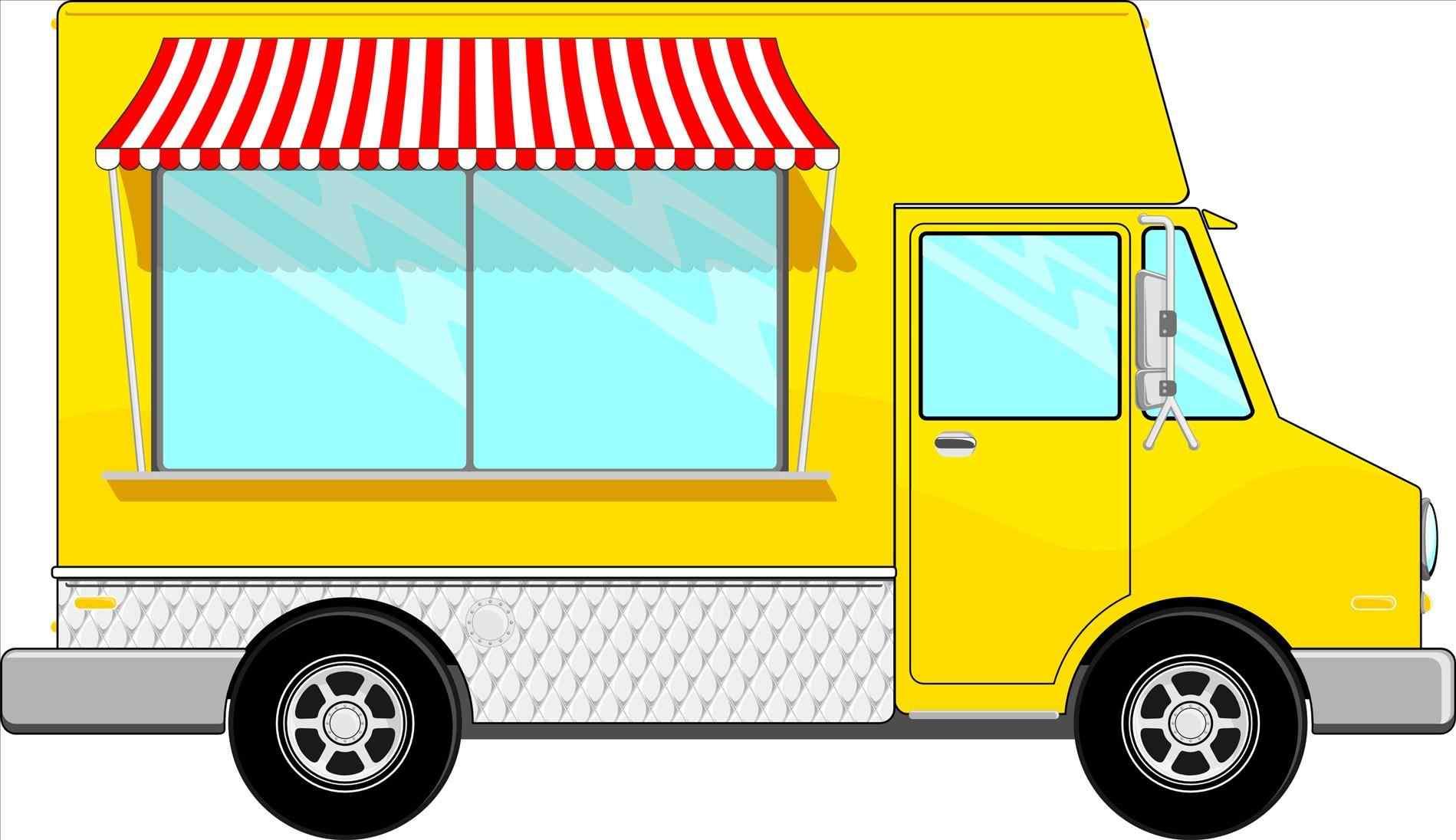 Clip art arch dsgn. Blue clipart food truck