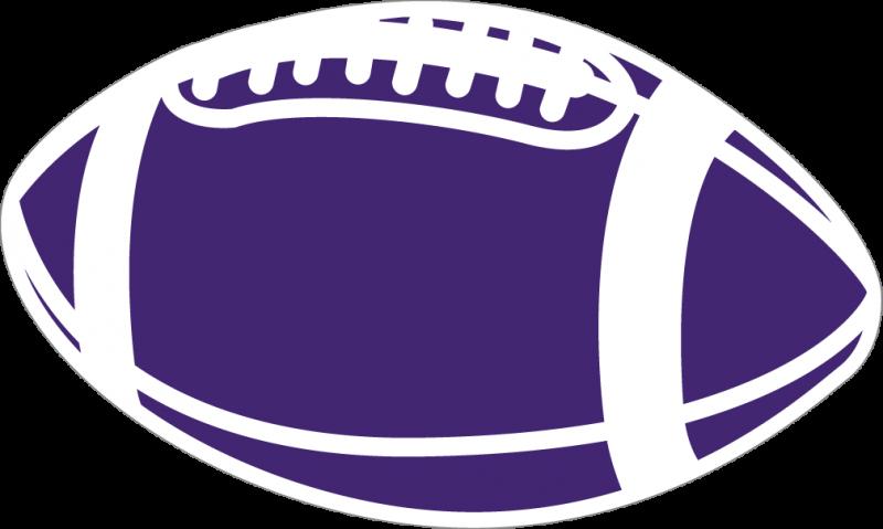 . Clipart football purple