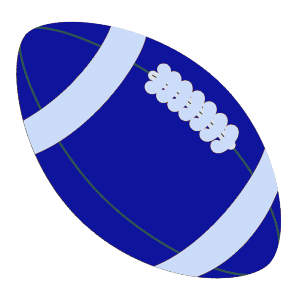 American background ball . Blue clipart football